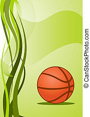 vecteur, basket-ball, fond
