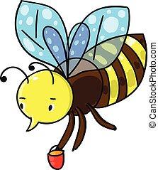 vecteur, bee., illustration