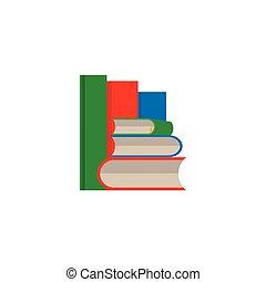 vecteur, blanc, ensemble, livre, fond