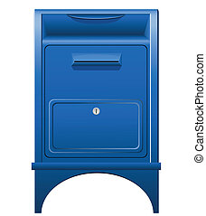 vecteur, boîte lettres, illustration, icône