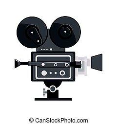 vecteur, bon appareil-photo, film, illustration