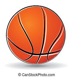 vecteur, boule basket-ball