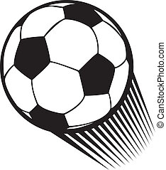 vecteur, boule football, (soccer)