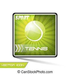 vecteur, boule tennis, sport, icône