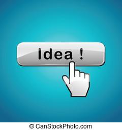 vecteur, bouton, concept, idée