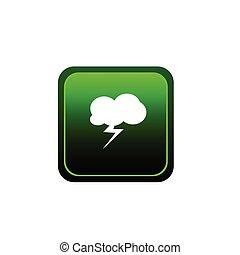 vecteur, bouton, flash, nuage, illustration