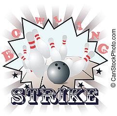 vecteur, bowling, illustration
