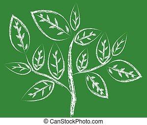 vecteur, branche arbre
