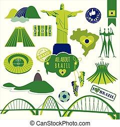 vecteur, brazil., illustration