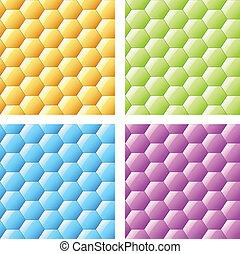 vecteur, brillant, seamless, hexagones