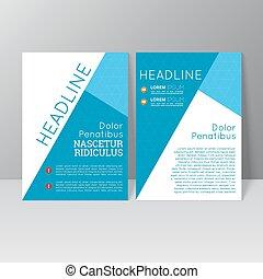 vecteur, brochure, gabarit, conception