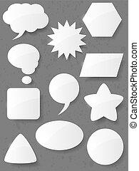 vecteur, bubbles., ensemble, parole, illustration.