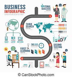 vecteur, bussiness, illustra, gabarit, infographic, conception, concept