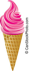 vecteur, cône crème glace