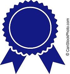 vecteur, cachet, certificat, illustration, icône