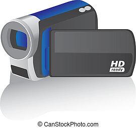 vecteur, caméscope, illustration