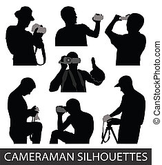 vecteur, cameramans