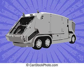 vecteur, camion