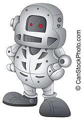 vecteur, caractère, robot, dessin animé