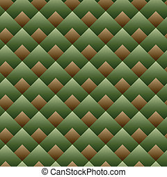 vecteur, carrée, modèle, -, seamless, ensemble, vert