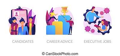 vecteur, carrières, metaphors., concept