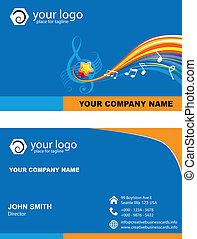 vecteur, carte affaires