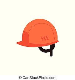 vecteur, casque, industriel, travail, protecteur, icône