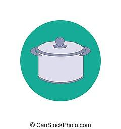vecteur, casserole, illustration