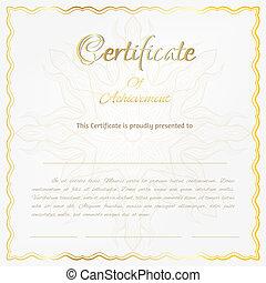 vecteur, certificat, fond