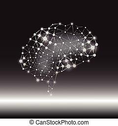 vecteur, cerveau, concept, humain, fond