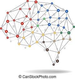 vecteur, cerveau, concept, illustration, humain