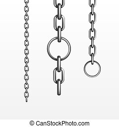 vecteur, chaîne métal