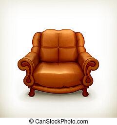 vecteur, chaise
