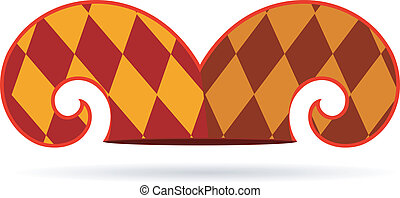 vecteur, chapeau, farceur, illustration