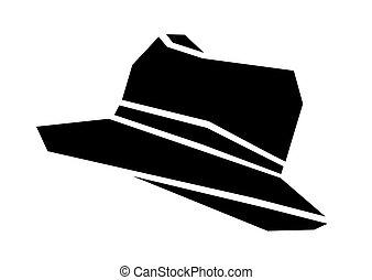 vecteur, chapeau, illustration