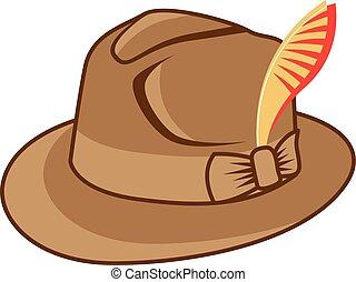 vecteur, chapeau
