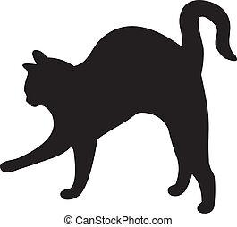 vecteur, chat