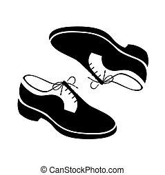 vecteur, chaussures, illustration