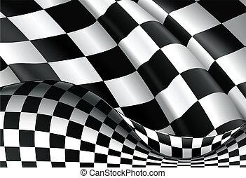 vecteur, checkered, fond