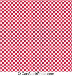 vecteur, checkered, rouges