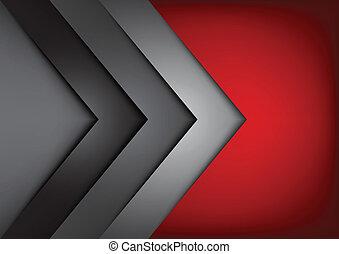 vecteur, chevauchement, dimension, fond, rouges