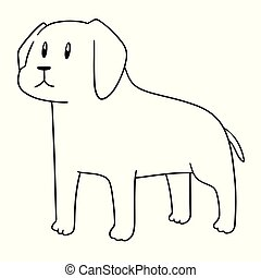 vecteur, chien