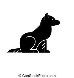 vecteur, chien, fond, icône, isolé, signe, illustration