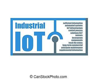 vecteur, choses, industriel, internet, caractéristiques