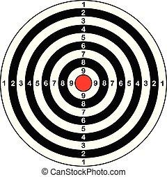 vecteur, cible, pour, fusil, et, tir arc