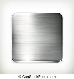 vecteur, cliché métal
