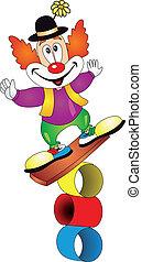 vecteur, clown