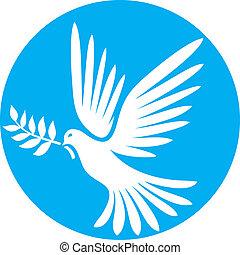 vecteur, colombe, paix