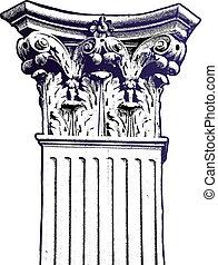 vecteur, colonne