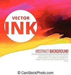 vecteur, coloré, aquarelle, clair, éclaboussure, encre